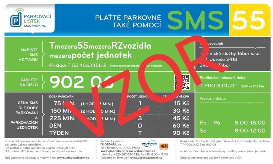 Nový systém úhrady parkovného prostřednictvím Premium SMS